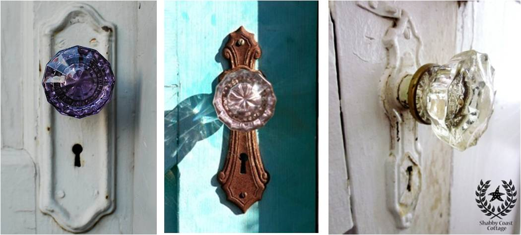 Bin there done that; Antique Glass Door Knobs ; Shabby Coast Cottage via here; 2. Joanne Coyle via Fine Art America; 123RF.com; Gritchelle Fallesgon; 3. & Funky Door Knobs and Handles | The Funkaditional Stylist